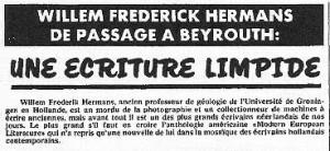 Hermans Libanese krant