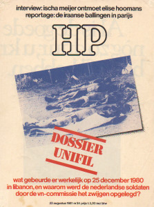 Omslag Dossier Unifil, Haagse Post
