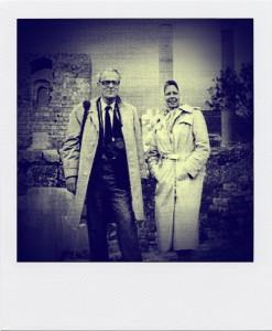 W.F. Hermans en zijn vrouw in Byblos-polariod